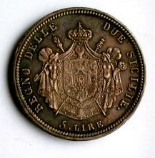 ナポリ 5リレ銀貨 1813年 2