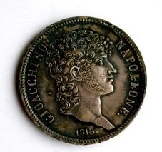 ナポリ 5リレ銀貨 1813年
