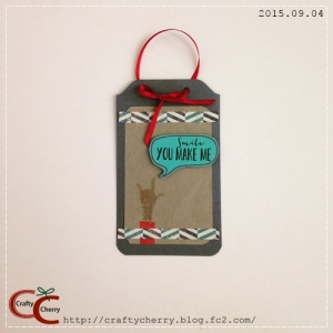 Crafty Cherry * Gift tag