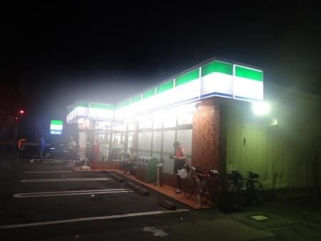 020桜川市、益子町を通過し、市貝町のファミマがPC1、到着は4時05分