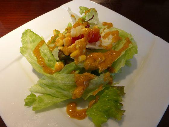 ランチセットの前菜サラダ