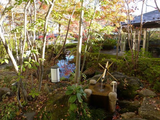 エントランス前の美しい庭園