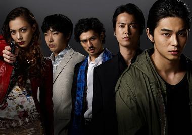 石井隆監督 『GONINサーガ』 五人の面々。本当の五人目は根津甚八だろうか。