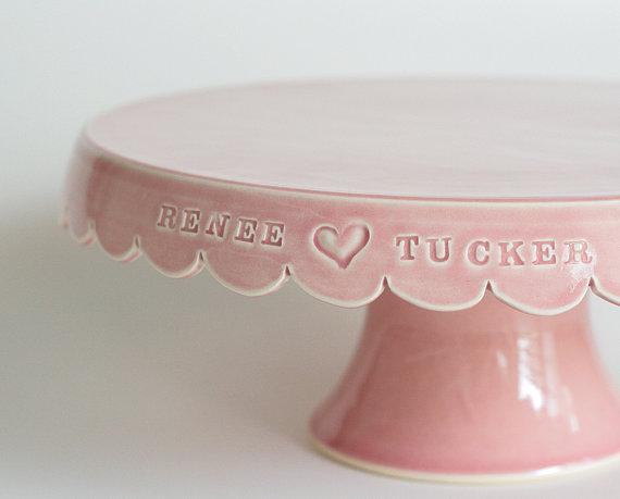 陶器オーダーメイドウェディングケーキスタンド