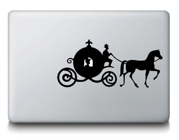 シンデレラ_カボチャの馬車_マックブックステッカー_macbook_etsy