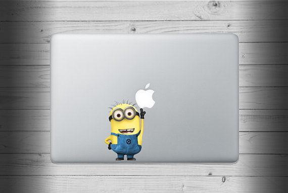 ミニオン_カラーマックブックステッカー_macbook_etsy