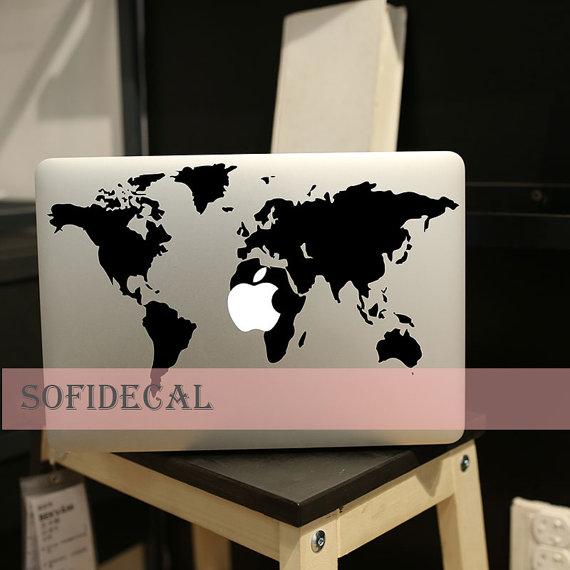 世界地図_マックブックステッカー_macbook_etsy