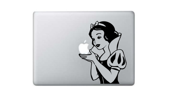 白雪姫_マックブックステッカー_macbook_etsy