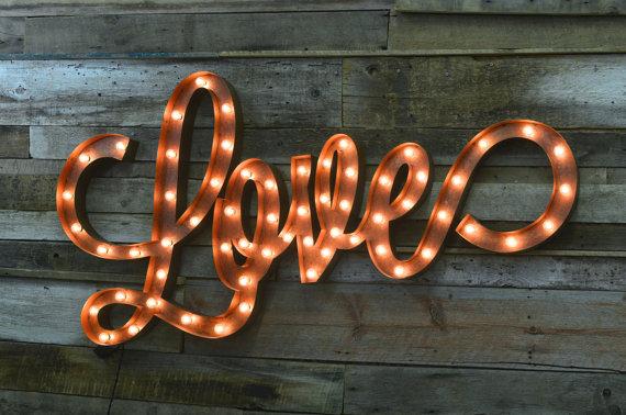 マーキーライト_LOVE_マーキーサイン