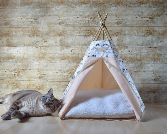 ネコ用テント_インディアン_etsy