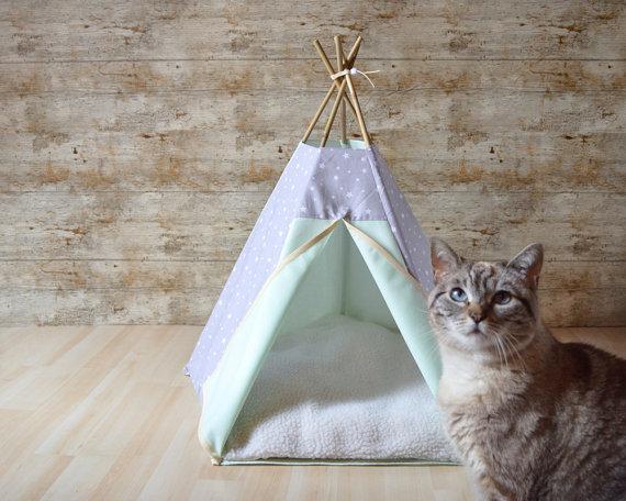 ネコ用テント_インディアン_tepee