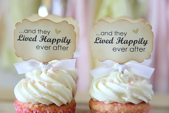 Happily-ever-after_ケーキトッパー_etsy