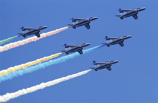 カラースモーク_航空ショー