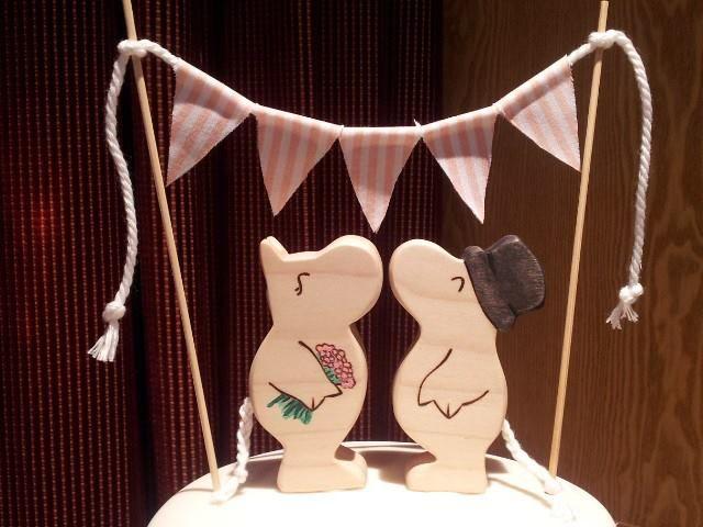 ムーミン_結婚式_ケーキトッパー
