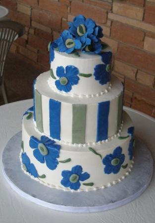 マリメッコ_ウェディングケーキ_ブルー