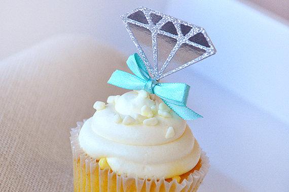 ダイアモンドカップケーキトッパー