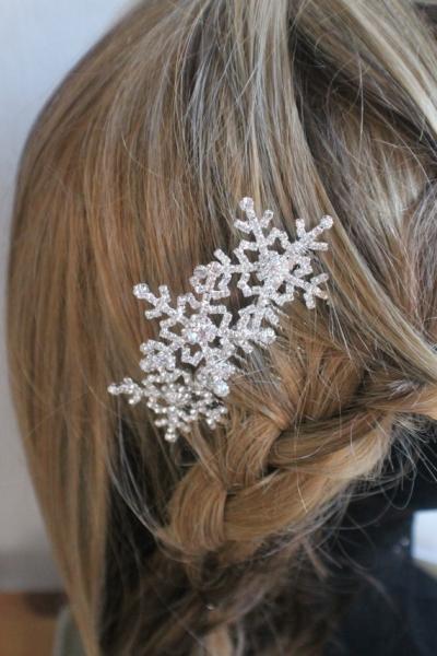 スノーフレーク髪飾り_結婚式2