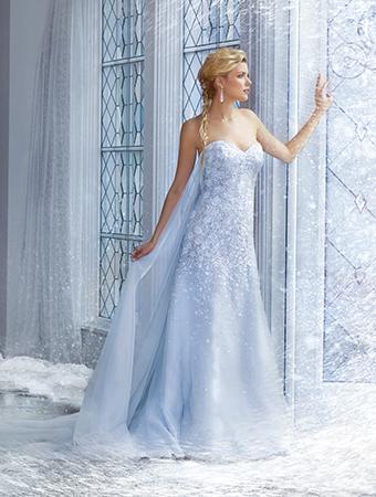 アナと雪の女王_エルサウェディングドレス_AlfredAngelo(アルフレッドアンジェロ)2