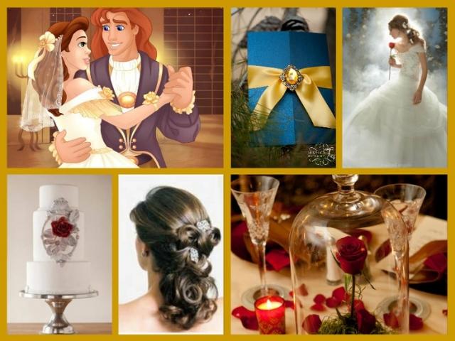 美女と野獣テーマ結婚式