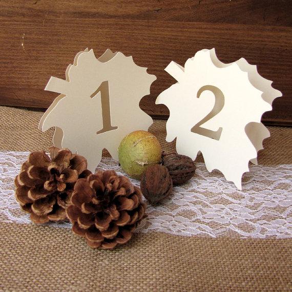 秋枯れ葉テーブルナンバー