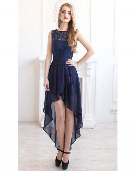 アシンメトリーレースドレス