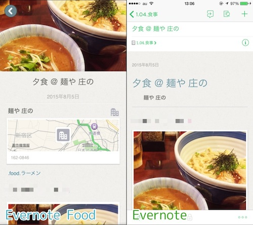 Evernote Food → Evernote