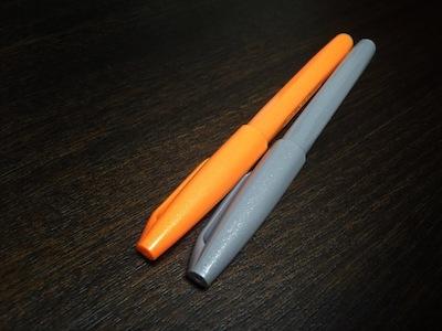 筆touchサインペン - オレンジとグレー