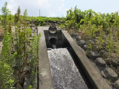 境川上高倉堰用水路・境川へ放流