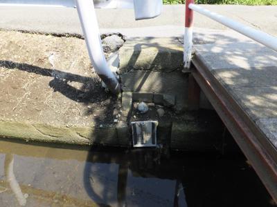 中村堰用水路跡取水口