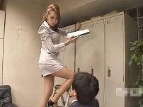 部長にスカートの中を覗かれてS女覚醒!手こき責め調教する女王様気質OL