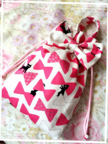 桜 美月プロデュースリボン巾着リボン柄