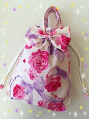 桜 美月プロデュースリボン巾着バラ