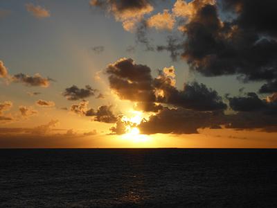 シトロン湾夕焼け