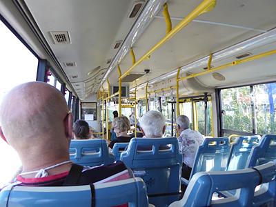 路線バスの内部