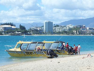 ヌメアへのボートタクシー