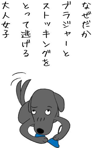 カミカミする犬