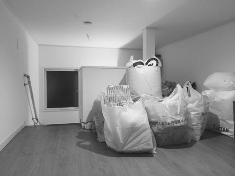屋根裏収納 小屋裏収納 固定階段 断捨離 整理整頓 片付け