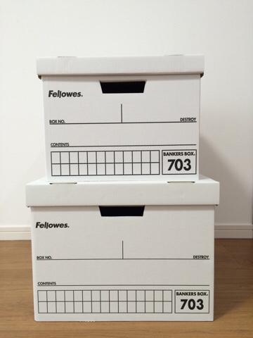 フェローズ バンカーズボックスfellowes bankers box 703ボックス A4 B4 黒 サイズ比較 ダンボール収納 北欧インテリア