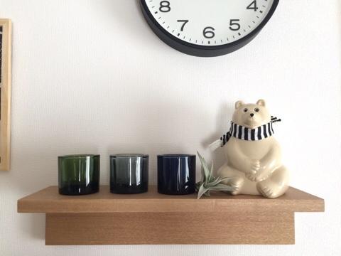 無印良品 壁に付けられる家具・棚 北欧雑貨 KIVI ディスプレイ 北欧インテリア 秋冬 冬支度 フィンランド シロクマ 白くま 白クマ オブジェ マフラー MKトレスマー エムケートレスマー 貯金箱