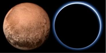 冥王星の赤と青