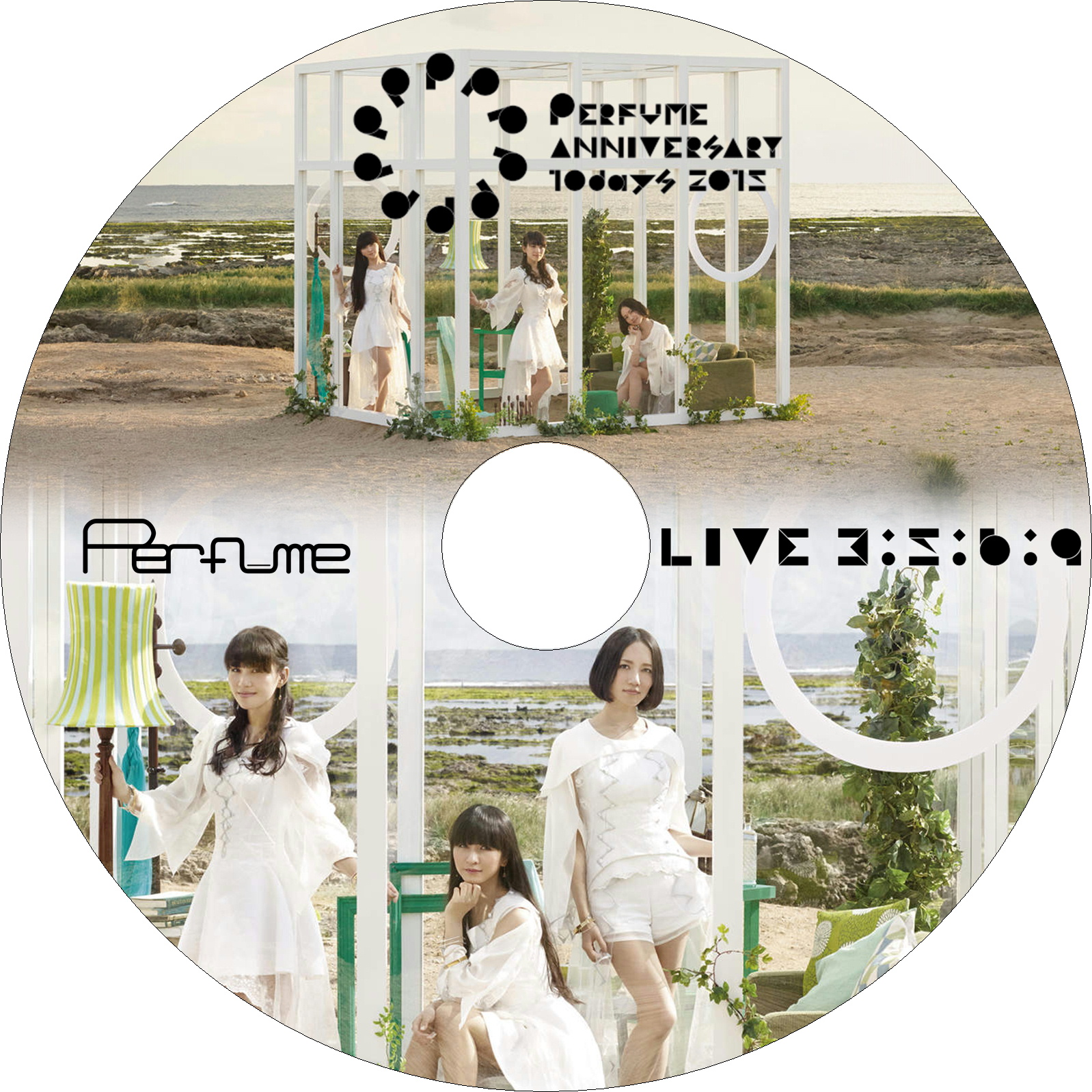 Perfume Anniversary 10days 2015 PPPPPPPPPP「LIVE 3:5:6:9」 ラベル