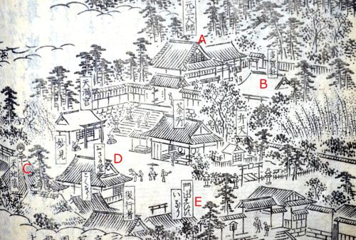 「花洛名勝図会」より粟田口付近