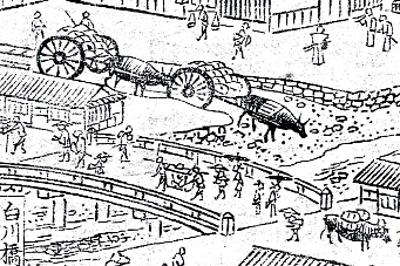 「花洛名勝図会」より「白川橋」