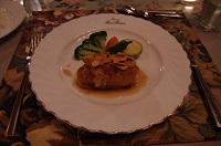 チキンの野菜巻きア-モンドソ-ス
