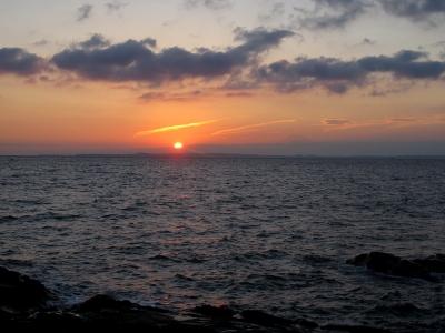 自宅近くにて夕日