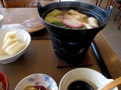 きりたんぽ鍋定食