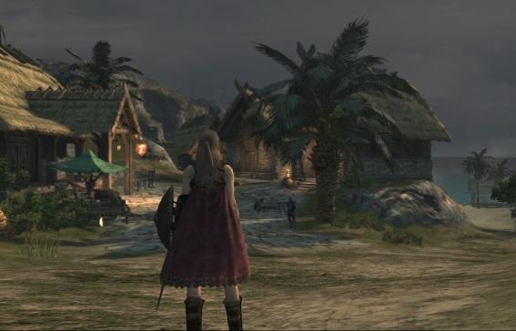 ブリア海岸のローテス村
