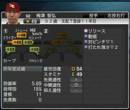 梅津智弘 プロ野球スピリッツ2015 ver1.08