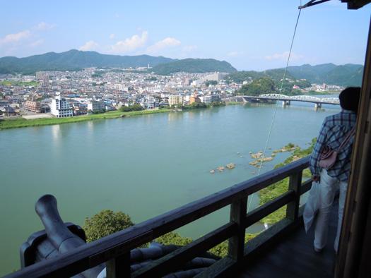 犬山城から見た木曽川の写真8。