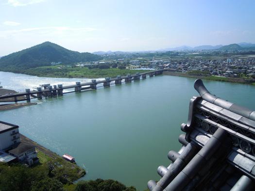 犬山城から見た木曽川の写真9。